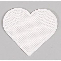 Lille hjerteformet stiftbund, pigplade - HAMA Mini perler