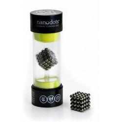 Nanodots magnetiske kugler. Byg former og figurer. 64 styk, sort