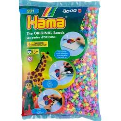 3000 perler, pastel mix (50), HAMA Midi perler