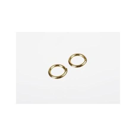 Splitring, øsken til smykker, ca. 140 styk, guld