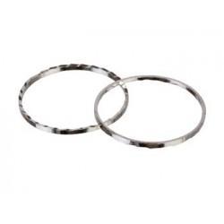 Ring med præg til smykker, metal, 22 mm, 50 stk