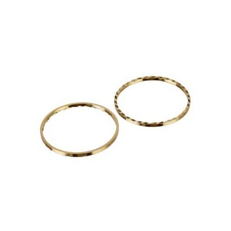 Ring med præg til smykker, guld, 22 mm, 50 stk