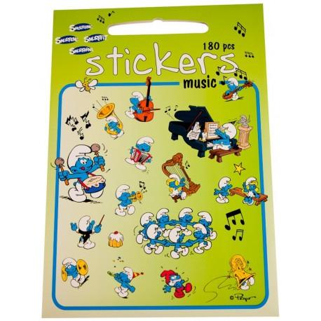 Stickers med Smølfer, Musik, 180 klistermærker