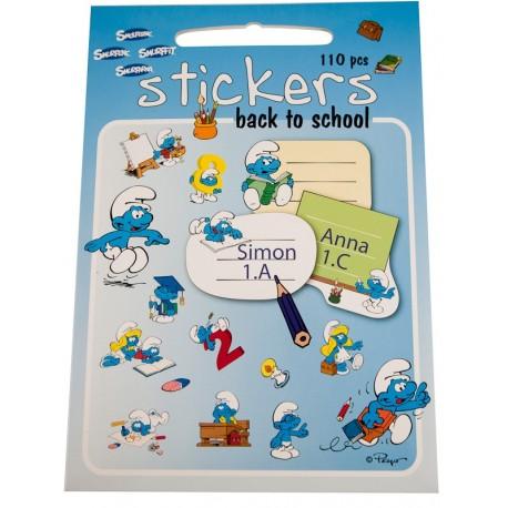 Stickers med Smølfer, Skole, 110 klistermærker