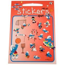 Stickers med Smølfer, Sport, 180 klistermærker