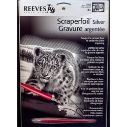 Sneleopard, sølvfarvet kradsfolie/skrabefolie, PPFS53