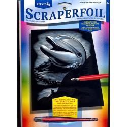 Delfin, sølvfarvet kradsfolie/skrabefolie, PPSF26