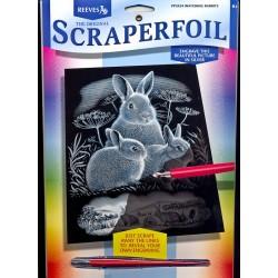 Kaniner, sølvfarvet kradsfolie/skrabefolie, PPSF302,PPSF24