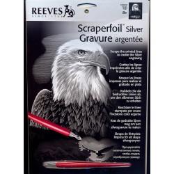 Ørn, sølvfarvet kradsfolie/skrabefolie, PPSF22
