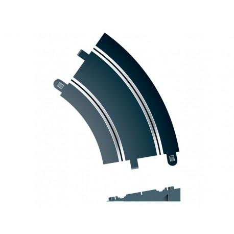 Hævet kurve, radius 2, 45°, 2 stk, Scalextric