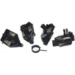 Slæbesko, strømoptager, braids, 4 stk, kort clips, Scalextric