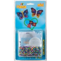 Smukke sommerfugle og blomster - HAMA Mini perler
