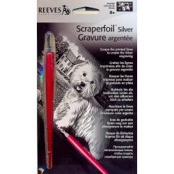 Hund, Westie, sølvfarvet MINI kradsfolie/skrabefolie, PPSFM5