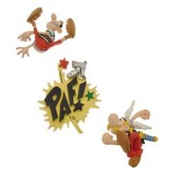 Magnetsæt, Asterix banker romer, 3 minimagneter