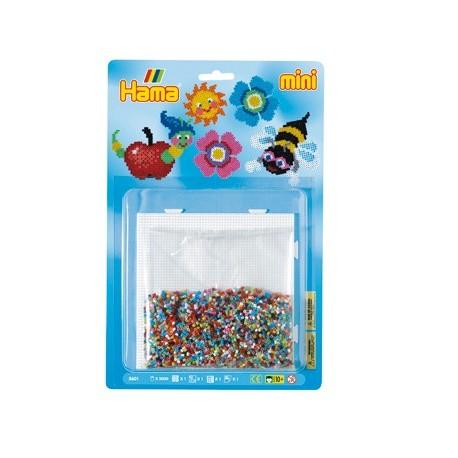 Larve, sol, blomst og bi - HAMA Mini perler