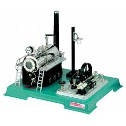 Dampmaskine, Wilesco D 18 med dynamo og lygte, 500 ml kedel