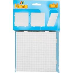 2 stk stor kvadratisk stiftbund og strygepapir - HAMA Mini perler