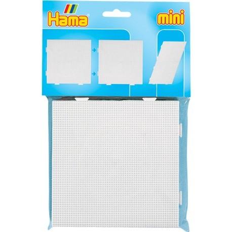 2 stk stor kvadratisk stiftbund, pigplade og strygepapir - HAMA Mini perler