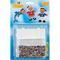 Matroser og delfin - HAMA Mini perler