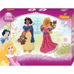 Disney Prinsesser: Snehvide og Tornerose. 4000 HAMA midi perler