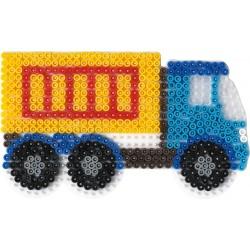 Stiftplade, lastbil, 9,5x17 cm, HAMA Midi perler