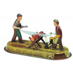 Skovarbejdere, figurmodel til dampmaskine