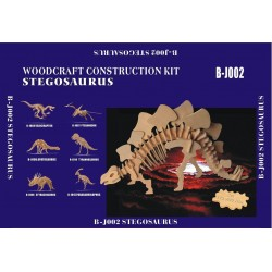 Stegosaurus, stor 72x20x39 cm, 3D-puslespil i træ