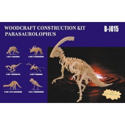 Styracosaurus, stor 67x25x33 cm, 3D-puslespil i træ