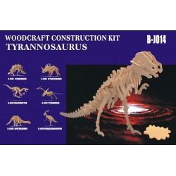 Tyrannosaurus, stor 91x23x51 cm, 3D-puslespil i træ