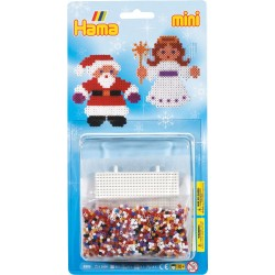 Julemand og engel - HAMA Mini perler