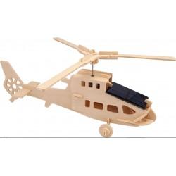 Helikopter-kit med solcelle, motor og maling.