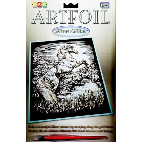 Hest stejler, sølvfarvet kradsfolie/skrabefolie, KSG0609