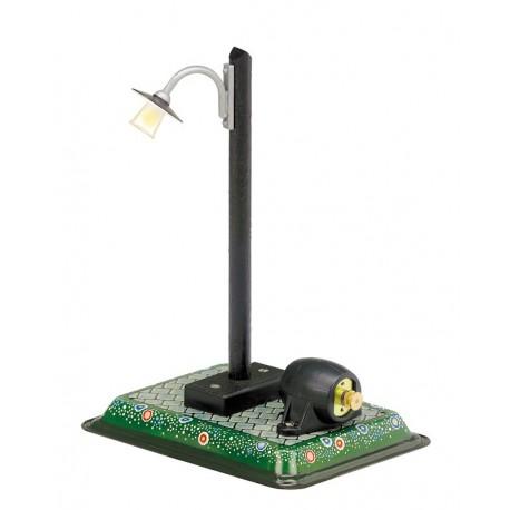 Gadelampe med dynamo, model til dampmaskine