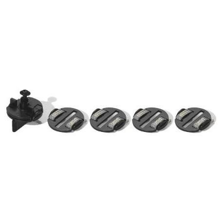 Slæbesko, runde, strømoptager, braids, 4 stk, Scalextric C8329
