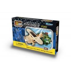 Fly med solcelle, P210 - Monoplan, 3D-puslespil med motor og solceller