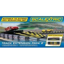 Baneudvidelse 2 - hop og chikane med afspærring, Scalextric