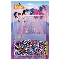 Fantasihest, pegasus, enhjørning, 2000 HAMA midi perler