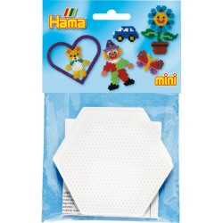 2 stk sekskantet stiftbund, pigplade - HAMA Mini perler