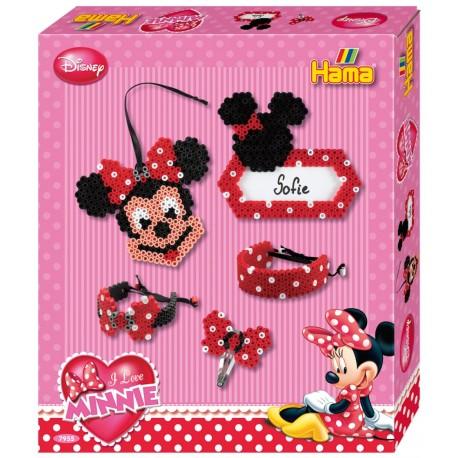 Disney Minnie Mouse, hårpynt, armbånd, navneskilt, 2500 HAMA midi perler