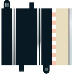 Lige banestykker, halve, 175 mm, 2 stk, Scalextric
