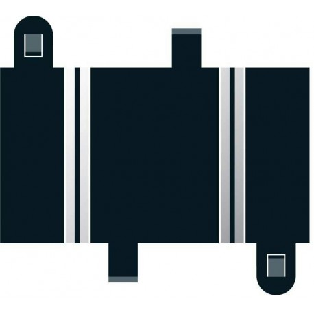 Lige banestykker, kvarte, 87 mm, 2 stk, Scalextric