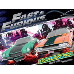 The Fast and The Furios, Lim. Ed. med begge biler. Scalextric C3373A