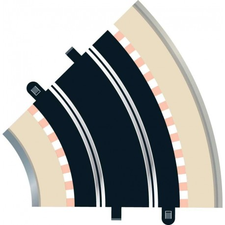 Kurvede banestykker, radius 2, 45°, 2 stk, Scalextric