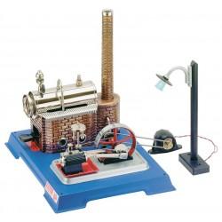 Dampmaskine, Wilesco D 105 med dynamo og gadelampe, 155 ml kedel