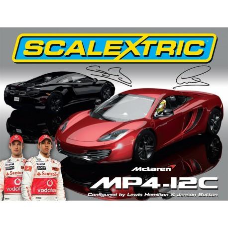 McLaren MP4-12C, Limited Edition, Jenson Button og Lewis Hamilton. Scalextric C3171A