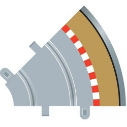 Afgrænsning og barriere, udvendig, radius 1, 4 stk, Scalextric