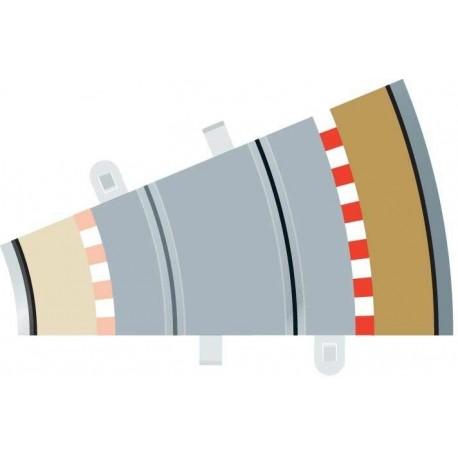Afgrænsning og barriere, udvendig, radius 2, 4 stk, Scalextric