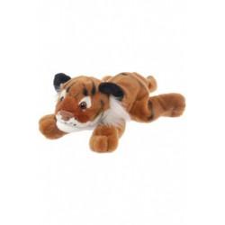 Tiger, liggende, beanbag, 25 cm