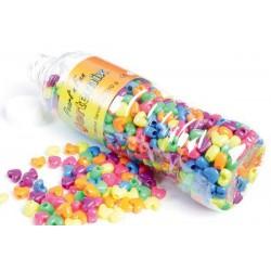 Smykkeperler plast. Hjertemix, flere farver