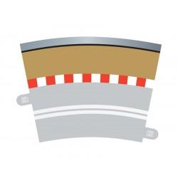 Afgrænsning og barriere, enkelt, udvendig, rad 3, 4 stk, Scalextric